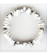 White Howlite Gemstone Chip Bracelet - $2.52