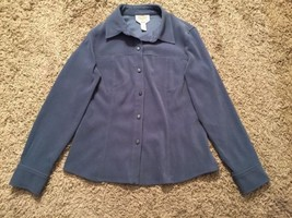 Talbots Petites Women's Blue Stretch LS Shirt  - $24.99