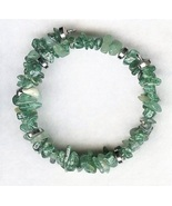 Green Aventurine Gemstone Chip Bracelet - $2.52