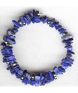 Lapis Gemstone Chip Bracelet - $2.52