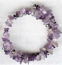 Amethyst Gemstone Chip Bracelet - $2.52