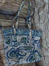 Vera Bradley Blue White Floral Handbag - $21.77