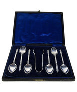 Boxed EPNS Vintage Apostle Spoon Set with Sugar... - $49.00
