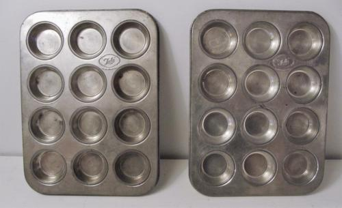 2 Vintage Tala Tart Muffin Heavy Metal Baking Cookie Cake Mold Made in England