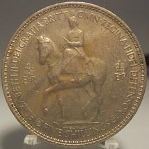 KM #894 United Kingdom 1953 Coronation Commemorative Crown #0020 - $12.99