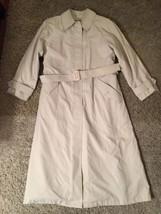 Vintage London Fog Women's Beige Tempo Europa Lined Trench Coat, Sz 6 Re... - $36.99