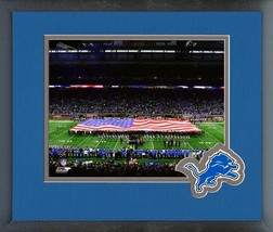 Ford Field 2016 Home of the Detroit Lions -11x14 Matted/Framed Photo - $42.95