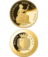 Malta GOLD Coin - THIRD FARTHING - Smallest Smallest Gold Coin Programme - €98,34 EUR