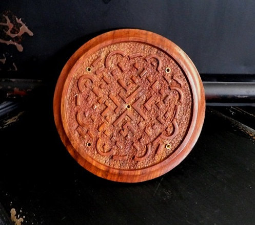 Kerridwens Celtic Knot Wooden Incense Burner