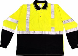 Class 3 Hi Vis Long Sleeve Polo Shirt,CLA8460LSP - $15.75+