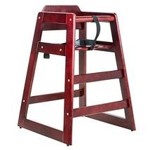 Baby Child Restaurant High Chair Unassembled, Mahogany - $54.99
