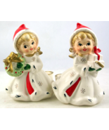 Vintage Napco Napcoware Christmas Girls candle ... - $30.00