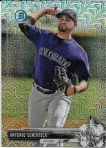 2017 BOWMAN CHROME MEGA BOX MOJO BCP27 ANTONIO SENZATELA RC ROCKIES FREE... - $1.99