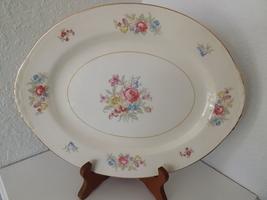 """Vintage Homer Laughlin Dresden Eggshell Nautilus 11"""" Oval Platter - $16.00"""