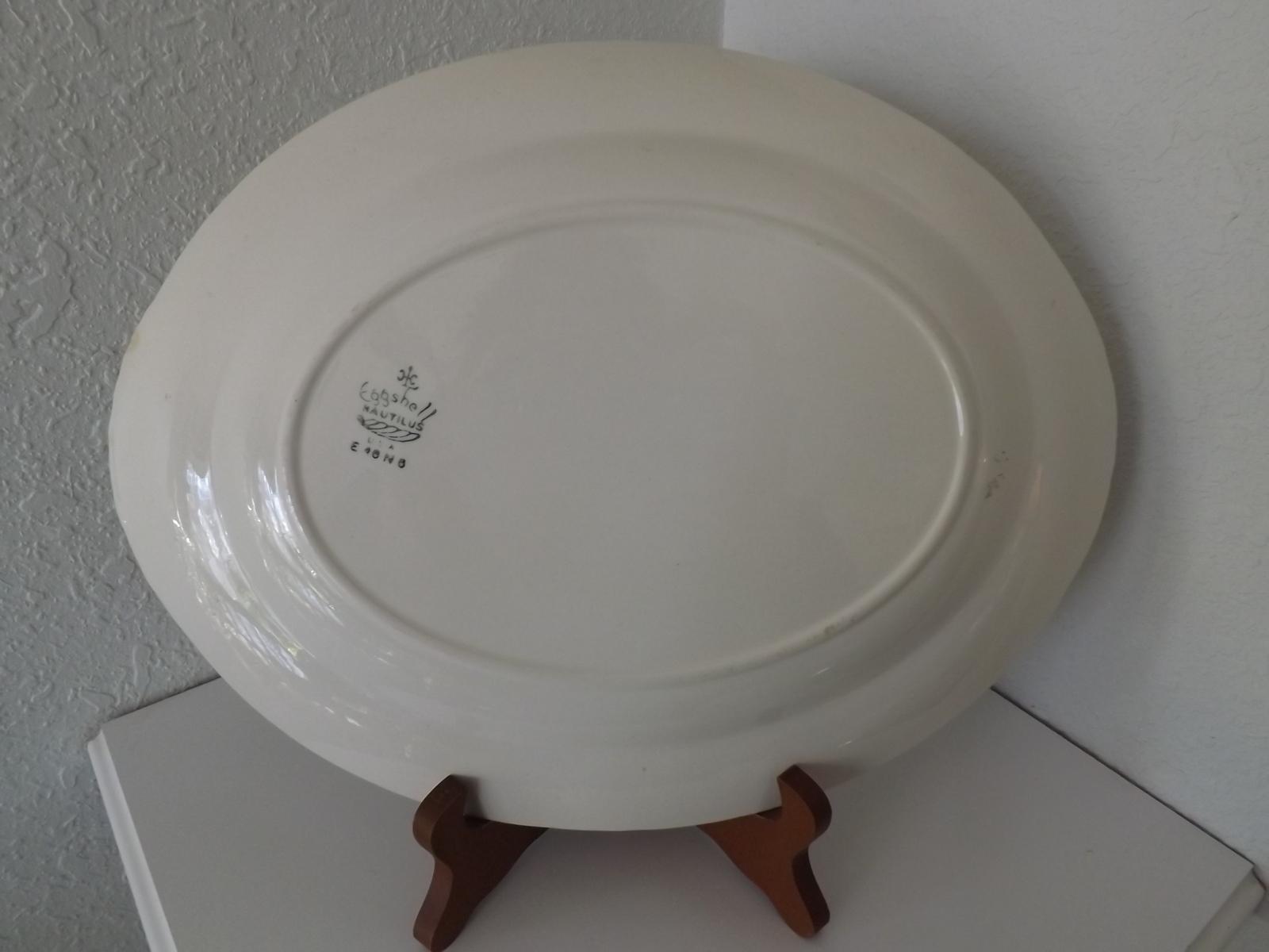 ... Vintage Homer Laughlin Dresden Eggshell Nautilus 11  Oval Platter & Vintage Homer Laughlin Dresden Eggshell and 22 similar items