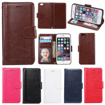 Luxury Leather Case Flip Cover Skin Stand Card Slot for iPhone 5 6 6S Plus 5S SE - $9.49+