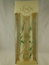 "Lenox Beeswax Classic 12"" Christmas Tapers Candles Hand Made and Painted NEW - $1,169.78"