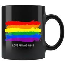 Gay Pride Rainbow Equality Love Wins Retro Stripe Coffee Mug 11oz Tea Cups - £10.27 GBP