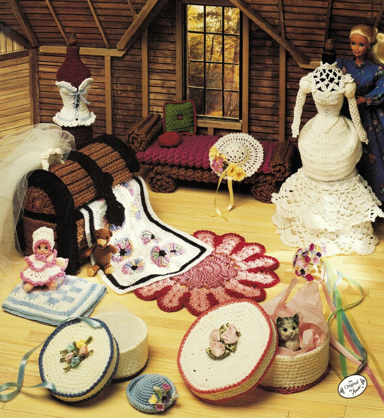Primary image for Annies Attic Fashion Doll Furniture DayBed Trunk Bride Mannequin Crochet Pattern