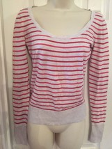 American Eagle Outfitters Striped Knit Top Shirt Scoop Neck Small S - $9.99