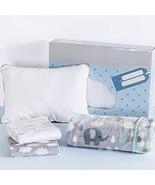 Baby Elephants Boy Girl Shower Gifts Set   4PCS   Soft Swaddle Light Bla... - $49.45