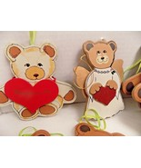 VTG Lot of 32 WOOD KURT ADLER TEDDY BEAR CHRISTMAS TREE ORNAMENTS HOLIDA... - $30.40