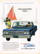 Vintage 1963 Magazine Ad Oldsmobile F-85 Cutlass Some Call It Poise Othe... - $5.93