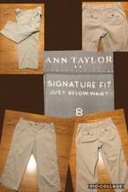 Ann Taylor Capris Size 8 Signature Fit Khaki 98% Cotton 2% Spandex Good ... - $9.89