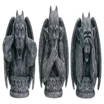 No Evil Gargoyles (Set of 3) - Collectible Figurine Statue Sculpture - $33.45