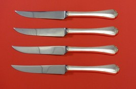 "Delicacy by Lunt Sterling Silver Steak Knife Set 4pc HHWS  Custom Made 8 1/2"" - $369.00"