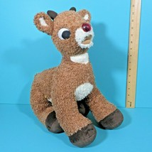 "Build A Bear Rudolph The Red Nosed Reindeer 16"" Plush Talks Nose Lights ... - $19.95"