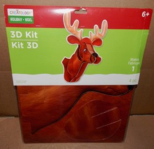 Christmas Reindeer 3D Craft Kit 4pc Large Creatology Double Walled Paper... - $9.49