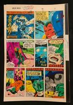 Iron Man #114 1978 Marvel original color guide art Avengers Vision p.15 - $69.76