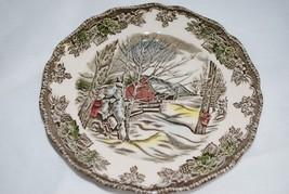 Vtg Johnson Brothers Friendly Village Bread Plates England Sugar Maples x6  - $34.60