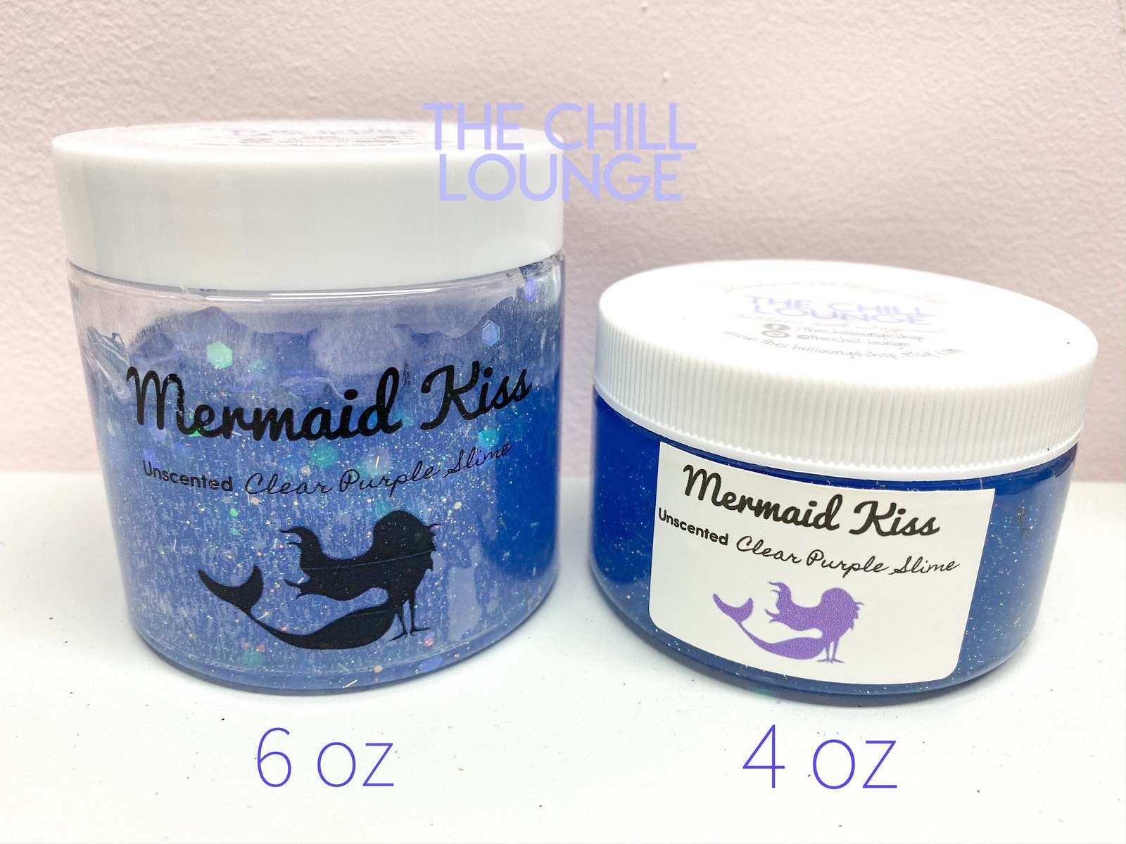 Mermaid Kiss Holographic Chunky Glitter Stretchy Clear Slime with MERMAID CHARM  image 6
