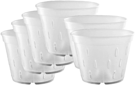 10 Pack Orchid Pots With Holes Plastic Planter Clear Flower Pot Indoor 7... - £18.82 GBP