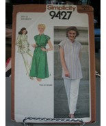 Simplicity 9427 Maternity Pullover Dress or Top Pattern - Size 12 Bust 34 - $7.91