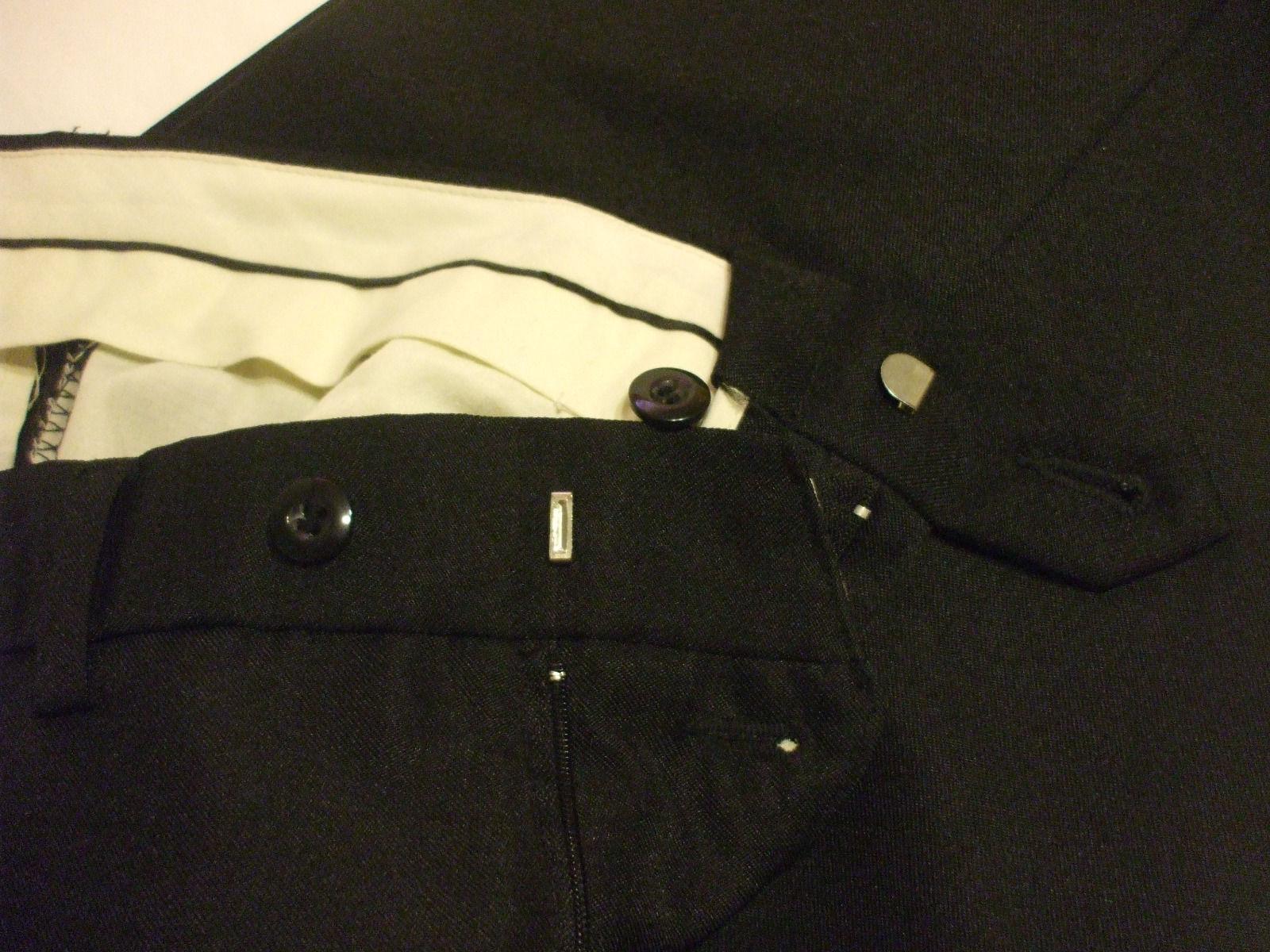 Premiere Collection Men's Black Dress Pants 100% Polyester