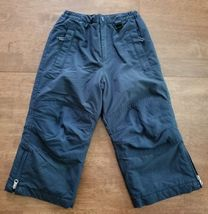Lands End Boys Girls Ski Snow Pants Size 4 Navy Blue Insulated Waterproof - $11.24