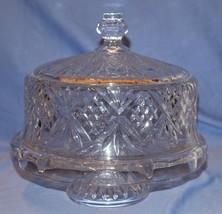 Godinger Dublin Kristall 4 in 1 mit Fuß Kuchen Platte / Kuppel Deckel Sc... - $40.27