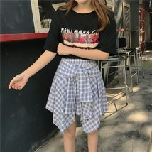 Asymmetrical Plaid Skirt Woman 2018 Spring New Fashion Casual Skirts Womens Loli image 5