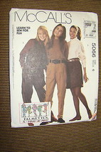 McCall's Pattern #5066 - Misses' Lined Vest, Tops, Pants, & Shorts Size ... - $4.00