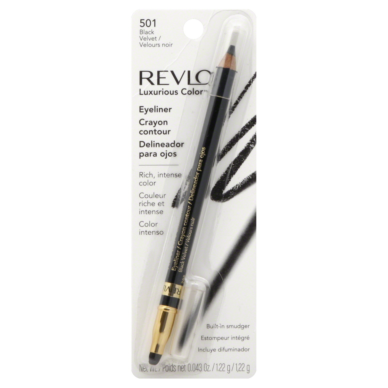 Primary image for Revlon Luxurious Colour Eyeliner, Black Velvet 501, 0ml