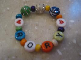 Colorful Boy ID name bracelet Retro letters Bas... - $3.00 - $5.25