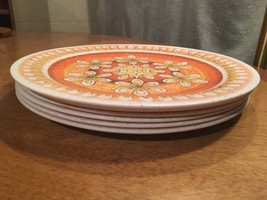 6 Vintage Artisan Ware  Melamine Melmac Dinner ... - $15.79