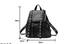 Women Leather Backpacks Students Large School Backpacks,Bookbags K249-1 image 2