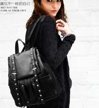 Women Leather Backpacks Students Large School Backpacks,Bookbags K249-1 image 6