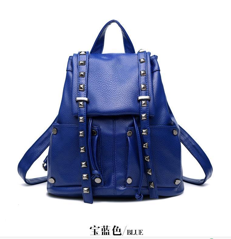 Women Leather Backpacks Students Large School Backpacks,Bookbags K249-1 image 7