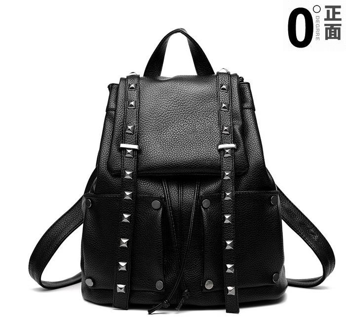 Women Leather Backpacks Students Large School Backpacks,Bookbags K249-1 image 10