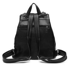 Women Leather Backpacks Students Large School Backpacks,Bookbags K249-1 image 12